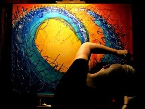 Hanna Bruer, Live Painting, Madison, WI